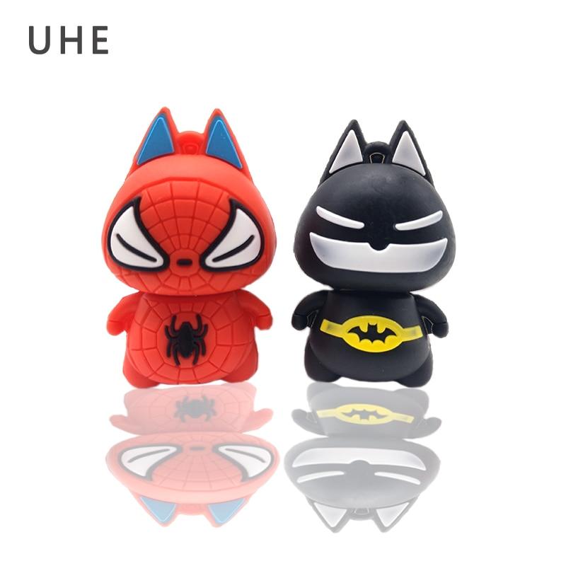 Pendrive USB2.0 flash drive 4GB 8GB 16GB 32GB 64GB cartoon batman/spiderman memory stick creative gift pen drive flash drive