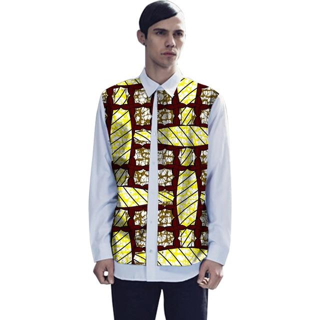 Африканский рубашки double deck мужчины мода поддельные две пьесы дизайн африканский печати dashiki рубашки африке одежда