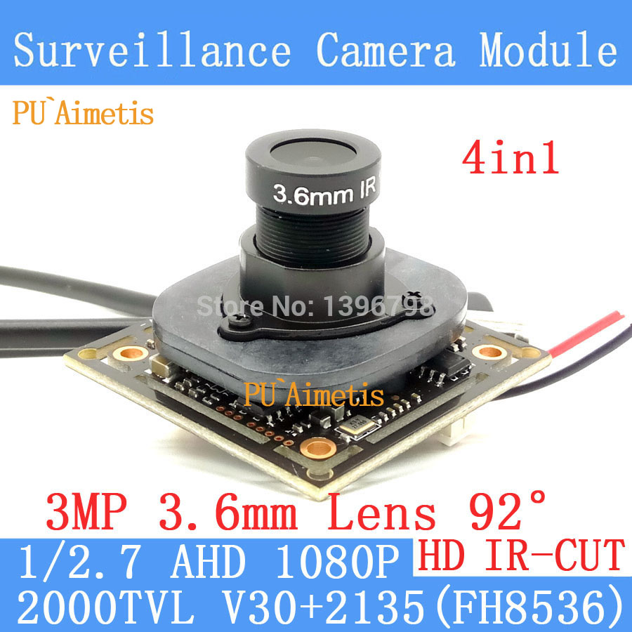 PU`Aimetis 4in1 2MP 1920*1080 AHD CCTV 1080P night vision Camera Module 1/2.7 2000TVL 3M ...