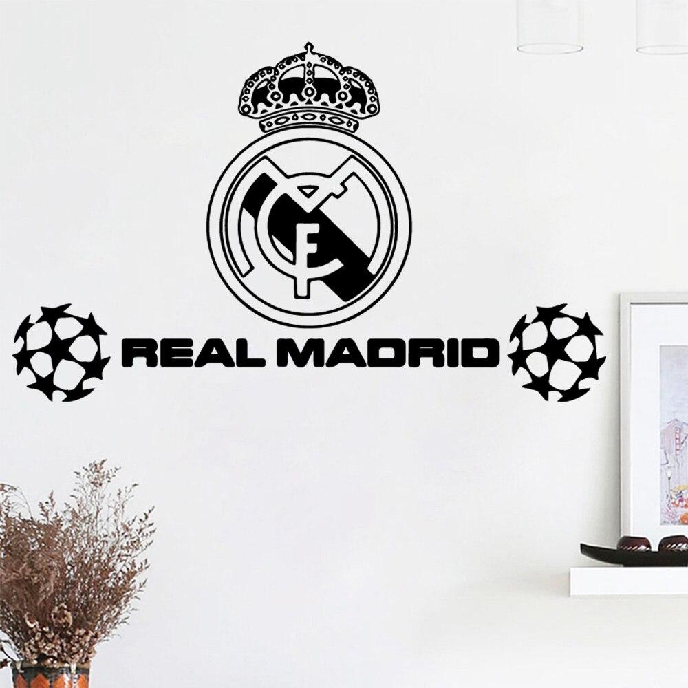 ART Echte Madrio voetbal Muurstickers Gepersonaliseerde Creatieve Voor Kinderen Kamers Nursery slaapkamer Decor Wanddecoratie