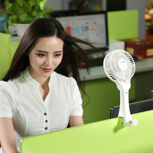 Rechargeable lithium battery portable handheld clip Mini USB fan stepless speed regulating fan with large ultra quiet fan