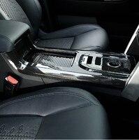 Для Land rover Discovery спортивные 15 17 автомобиль Стайлинг углеродного волокна центральной консоли Шестерни Сдвиг крышки отделкой автомобиля аксе