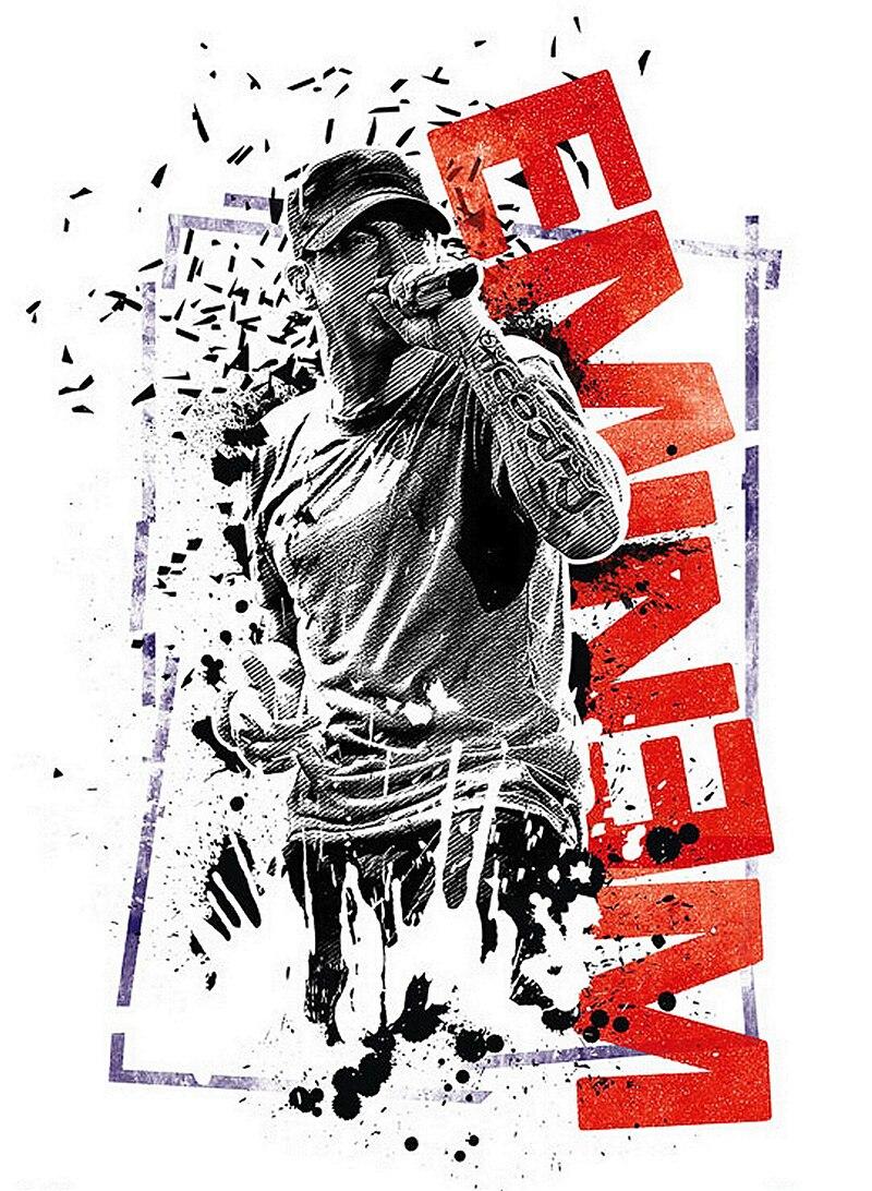 Online Shop Free Shipping Canvas Poster Custom Eminem Graffiti Music