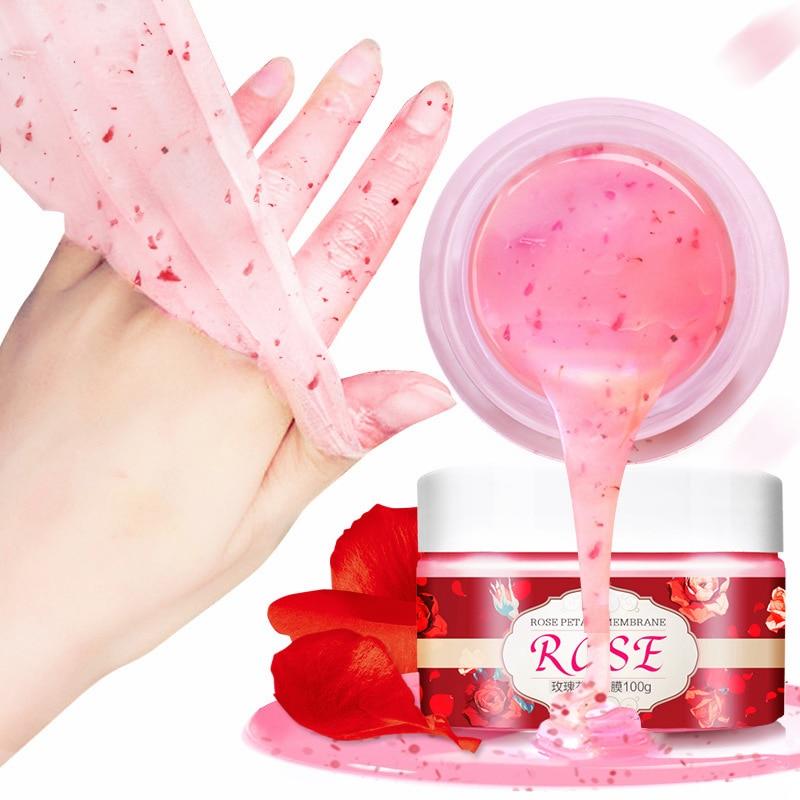 Peeling Hand Mask Wax Paraffin Bath Whitening Moisturizing Collagen Exfoliating Hands Care Spa Rose Essence Feet Cream Peel P