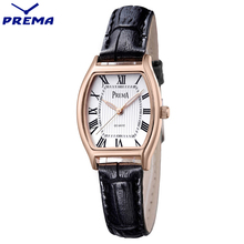 PREMA Ladies Fashion Quartz Watches Women Casual Leather Rose Gold Watch Female Clock montre femme reloj mujer