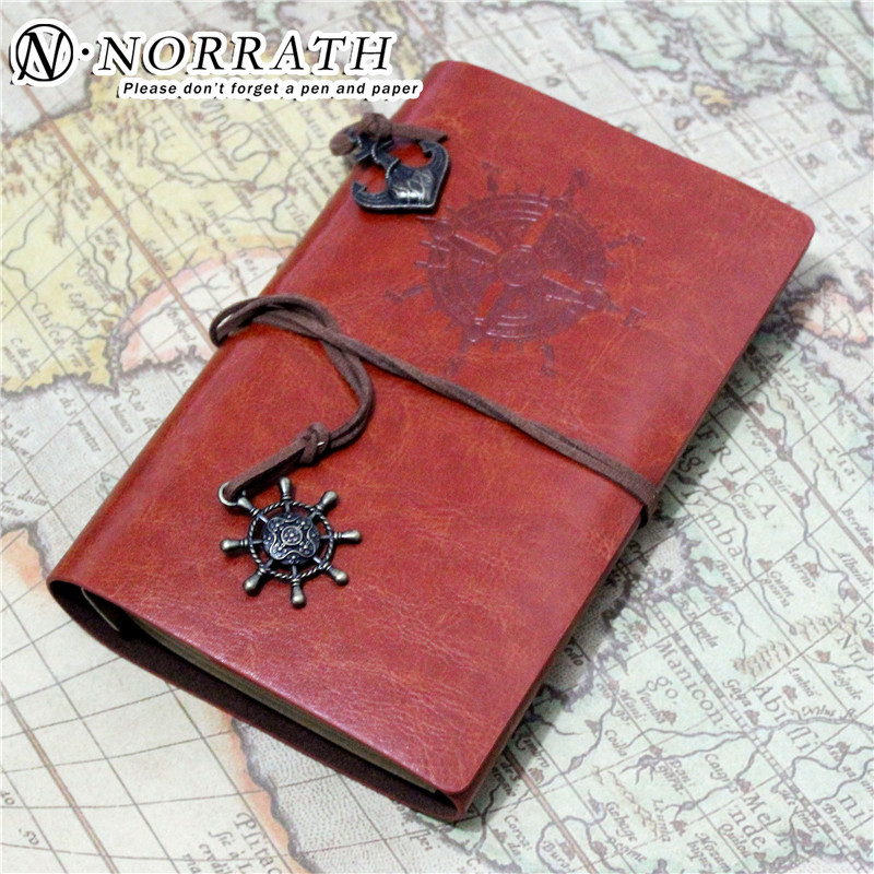 NORRATH Vintage Pendant NoteBook Travelers NoteBooks Planner Leather Journal Travel Journal Office School Gift Supplies Notepad cheng jia spiral notebook a5 retro leather journal daily planner notebooks writing pads office school travelers notebook binder