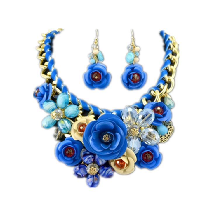 new statement necklace 2014 design gold chain painted