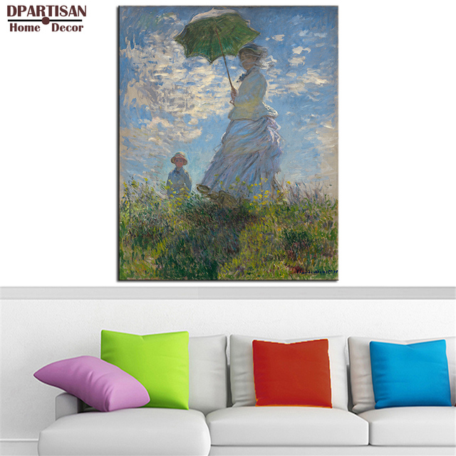 DPARTISAN Claude Monet Mujer con una Sombrilla pared Impresiones del ...
