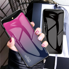 Tempered Glass Case for OPPO Find X Gradient Color Hard Back Cover for OPPO Find X Soft Silicone Bumper For OPPO Find X Case 360 full protection case for oppo find x case luxury hard pc shockproof back cover case for oppo find x cases