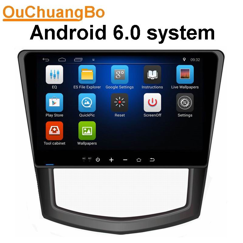 Ouchuangbo car stereo auto usb mp3 bluetooth gps for SGMW Macro Light S support 1080p video player 3G WIFI android 6.0