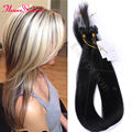 8A Micro Loop Human Hair Extensions 1g / Strands 100g Pack Silky Straight Hair Virgin Brazilian Micro Ring Loop Hair Extensions