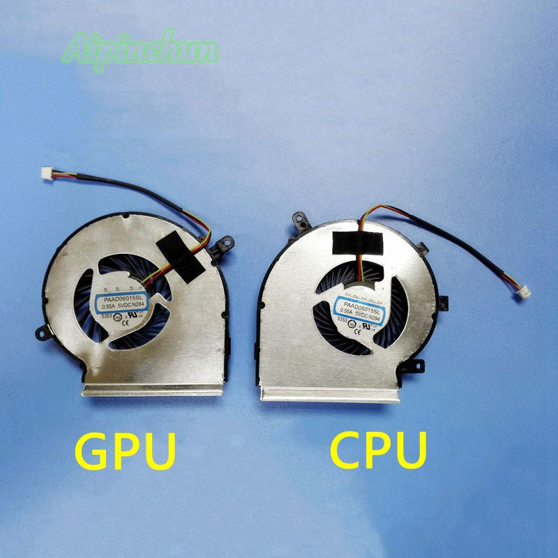 New Laptop CPU GPU Cooling Cooler Fan For MSI GE72 GE62 PE60 PE70 GL62 GL72 GP62 2QE 6QG MS-1794 MS-1795 PAAD06015SL