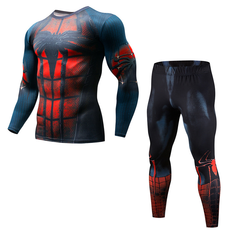 Newest Men Fitness Compression Sets Superhero Flash T Shirt 3D Printed MMA Crossfit Muscle Shirt Leggings Base Layer Tight Tops