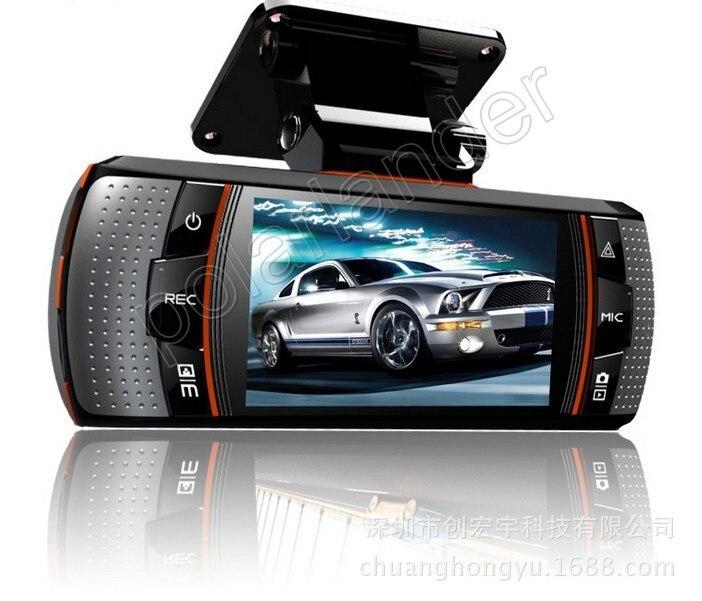 Enregistreur vidéo Allwinner double objectif voiture caméscope DVR 2.7 pouces LCD Vision nocturne 170 degrés grand angle avec caméra de vue arrière