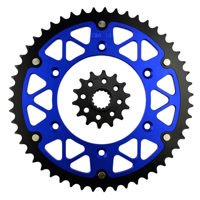 Motorcycle Parts Front & Rear Sprockets Kit for KTM GS125 1994-1997 GS250 1992-1993 GS300 1990-93 GS350 1986 Gear Fit 520 Chain