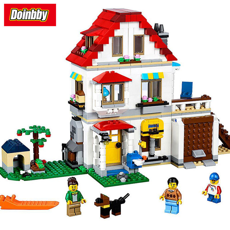 24046 Creative City Series 3-level Modular Family Villa Model Building Block Bricks Toys Kids Gifts Compatible 31069