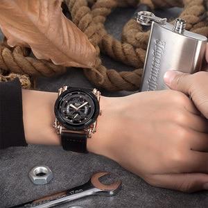 Image 2 - Oulm w nowym stylu zegarki mężczyźni zwykły kalendarz zegar kwarcowy mężczyzna unikalna konstrukcja luksusowe męskie skórzane zegarki relogio masculino