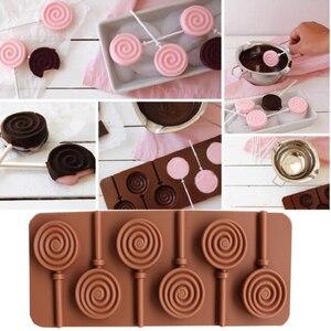 Image 5 - 1PCS Silikon Lollipop Form 9 Arten Schokolade Kuchen Fondant Cookie Form Jelly Pudding Formen DIY Backen Kuchen Dekorieren Werkzeuge 20