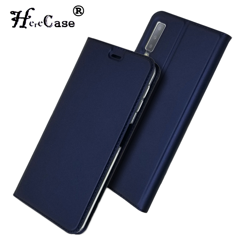 For <font><b>Samsung</b></font> <font><b>A7</b></font> <font><b>2018</b></font> <font><b>Case</b></font> Soft PU Stand Book Cover Card Slot Wallet Leather <font><b>Flip</b></font> <font><b>Case</b></font> For <font><b>Samsung</b></font> <font><b>Galaxy</b></font> A 7 <font><b>A7</b></font> <font><b>2018</b></font> Phone <font><b>Case</b></font> image