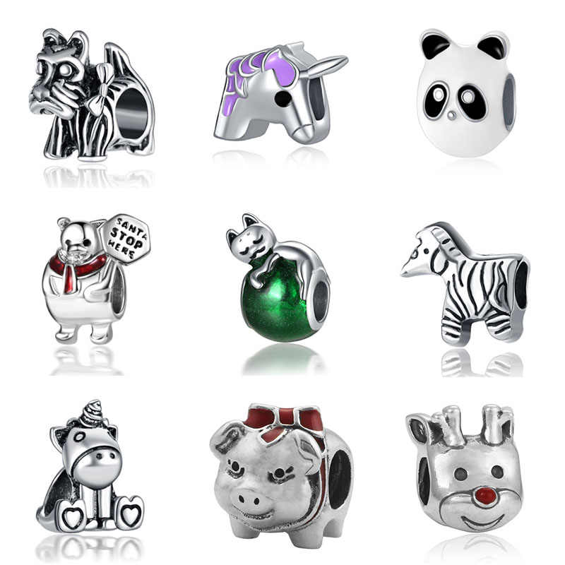 fit  unicorn beads jewelry bijoux bracciale bisuteria french bead silver perfumes mujer originales bracelet charms