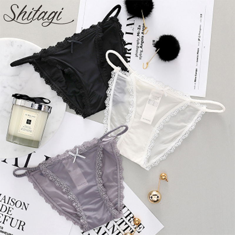 4f48c6f4d Shitagi Lace Transparent Panties Women s Sexy Lace Panty Hollow Out  Intimates Underpants low-Rise Female Underwear