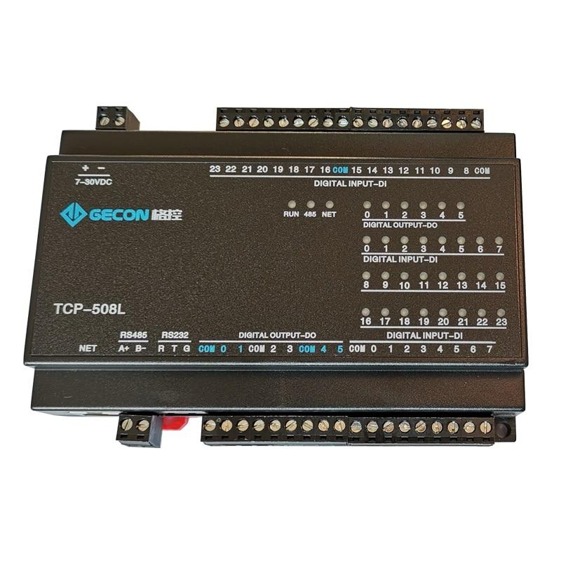 24DI switch input 6 way DO relay output RJ45 Ethernet TCP module Modbus controller