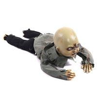 Animated Crawling Baby Zombie Scary Ghost Babies Doll Haunted Halloween Decor Props Supplies