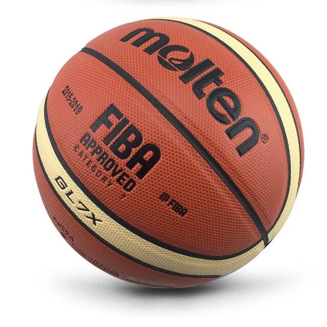 2018 nueva llegada al aire libre tamaño interior 7 PU de cuero pelota de entrenamiento canasta de baloncesto RED DE BALONCESTO + bola de aguja de baloncesto