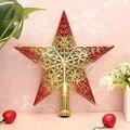 20 см прекрасный блестящий Рождественский декоративный Рождественская звезда дерево Топпер для столешницы орнамент 1 шт. 2016 - фото