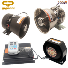 Wireless Car Alarm Police Siren Sound Warning Tone Megaphone 12V  Vehicle 200W 24V Electron Train air Horn MIC System