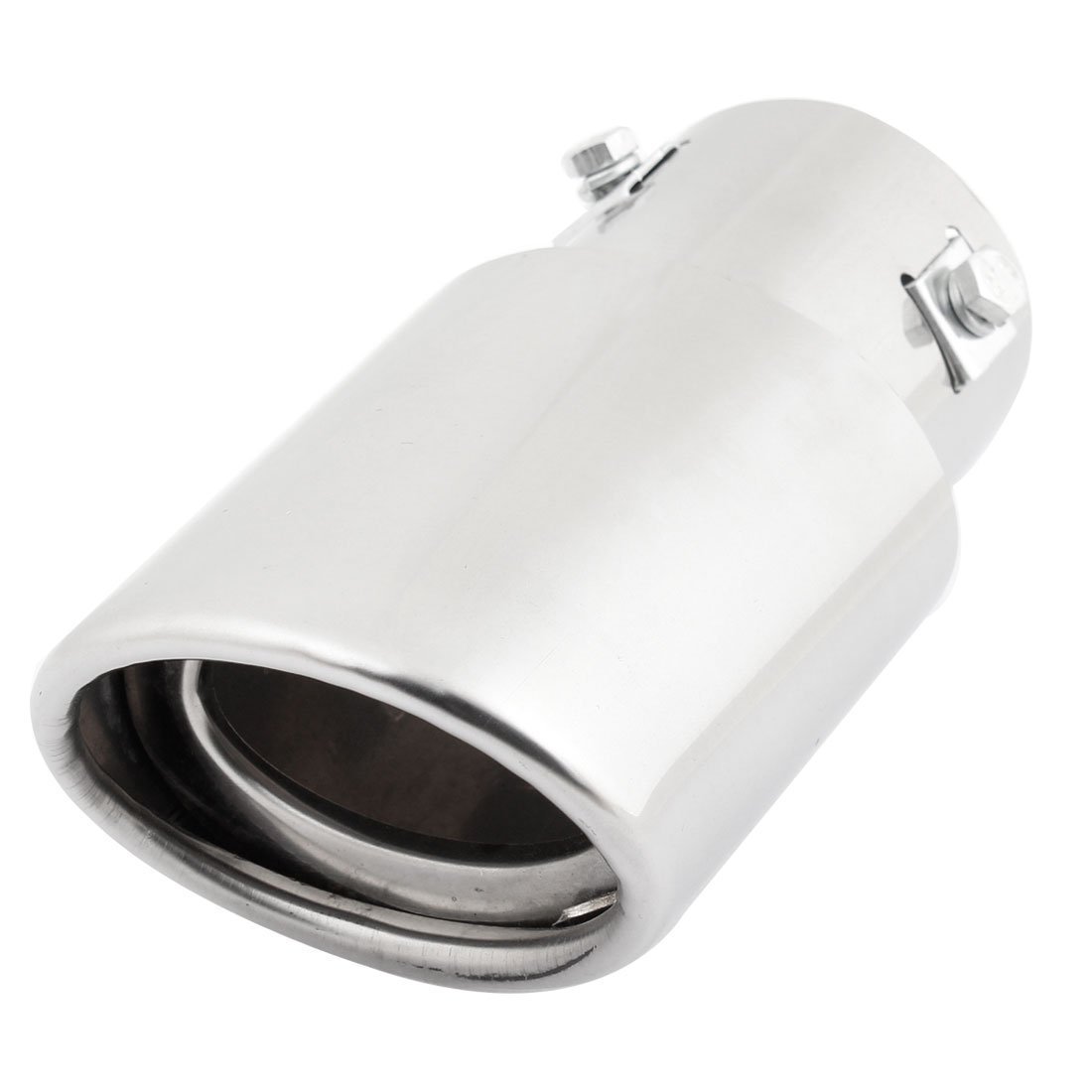 60mm Inlet Dia Oval Slanted Exhaust Muffler Tip