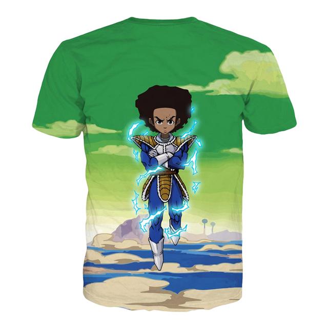 Boondocks Vegeta Huey Mash Up T-Shirt