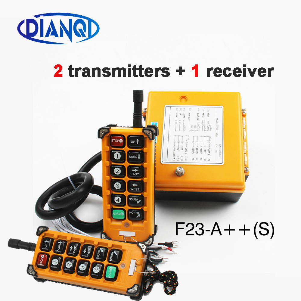 12V 24V 36V 220V 380V Wireless Crane Remote Control F23 A++S Industrial Remote Control Hoist Crane Push Button Switch-in Switches from Lights & Lighting