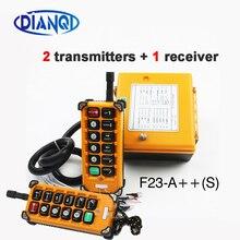 12v 24v 36v 220v 380v guindaste de controle remoto sem fio F23 A + + s interruptor de botão de controle remoto industrial da grua do guindaste