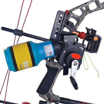 Deeper & longer shots Bow Fishing Spincast Reel for Compound Bow and Recurve Bow Shooting Tool Fish Hunting Bow Fishing
