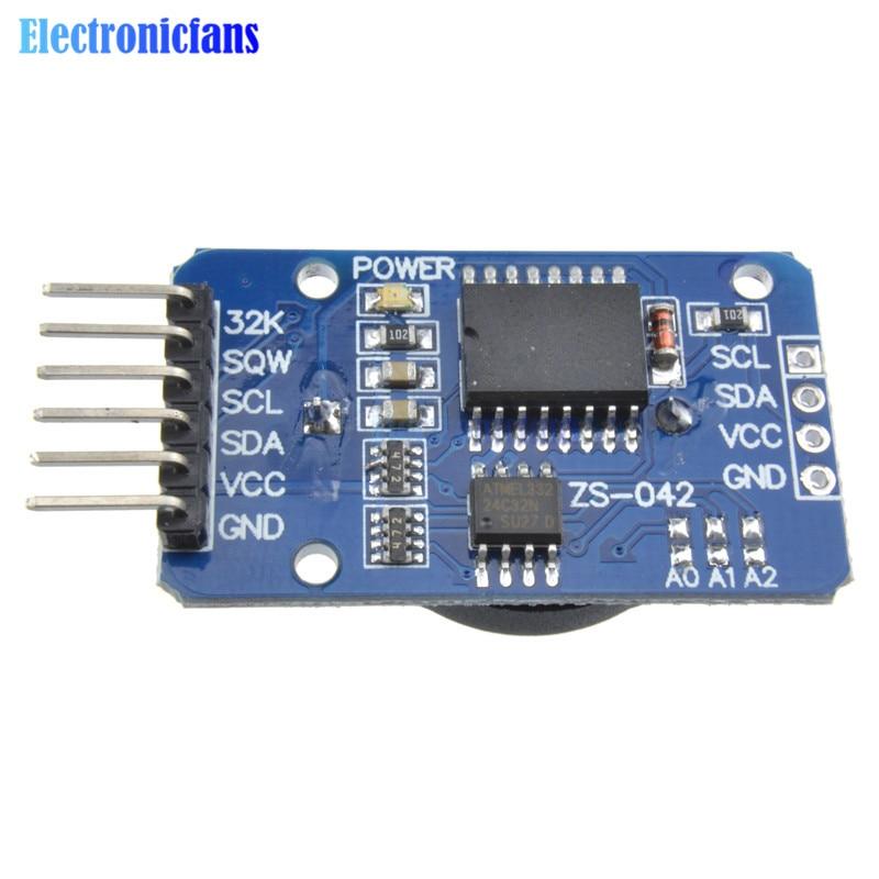 Бесплатная доставка 1 шт. DS3231 AT24C32 IIC точность RTC часы реального времени модуль памяти для Arduino новый оригинальный