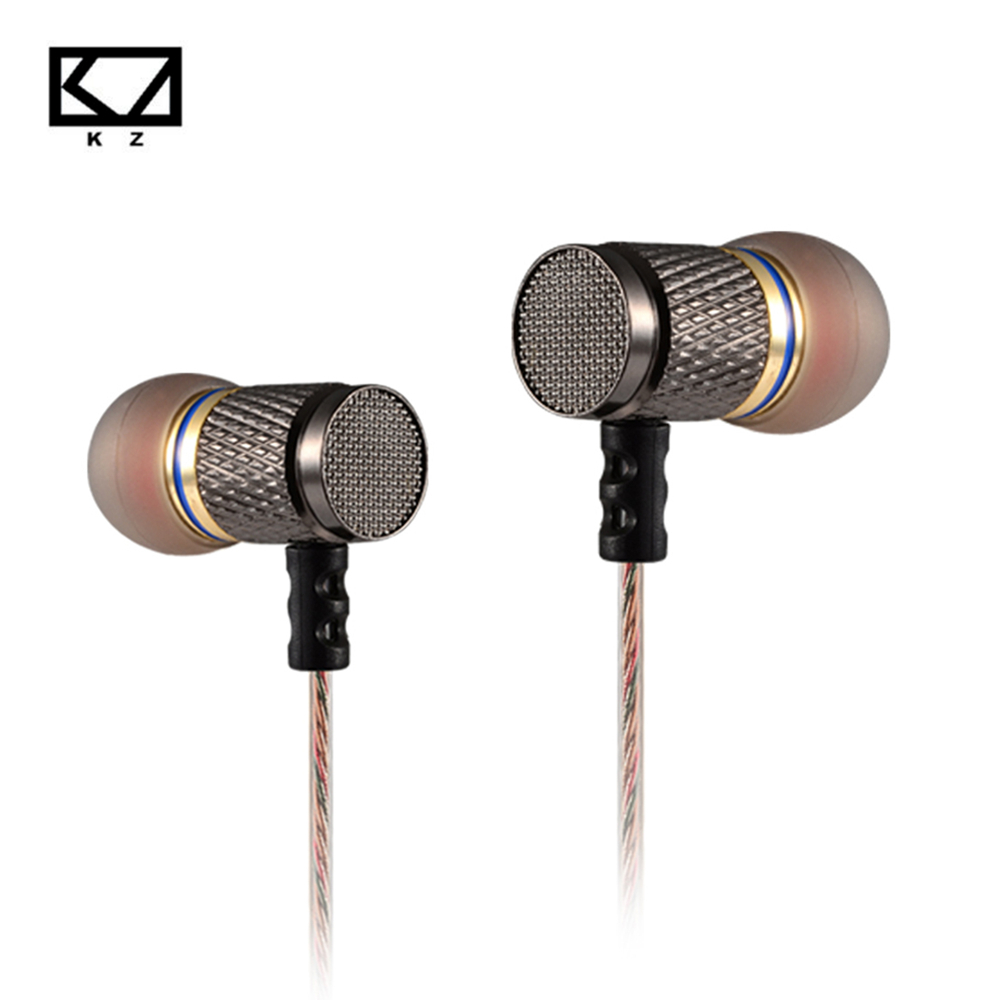 все цены на KZ-ED2 Professional In-Ear Earphone Metal Heavy Bass Sound Quality Music Earphone China's High-End Brand Headset fone de ouvido онлайн