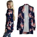 Plus size xxxl mulheres irregulares cardigans de manga longa flor impresso vintage kimono outwear casual tops casaco jaqueta feminina
