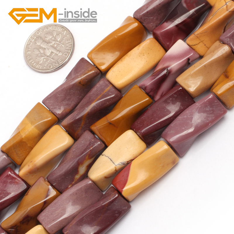 9x20mm Twist Column Mookaite Jaspe r Beads Natural Stone Beads Loose Beads For Jewelry Making Strand 15 inches DIY ! Wholesale