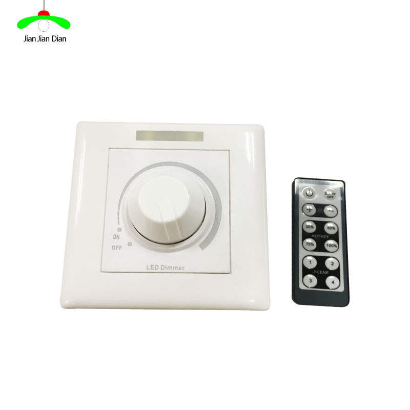 LED light remote control dimmer SCR dimmer switch panel with remote controller 220V 200W infrared remote control w led dimmer for led light stripe white