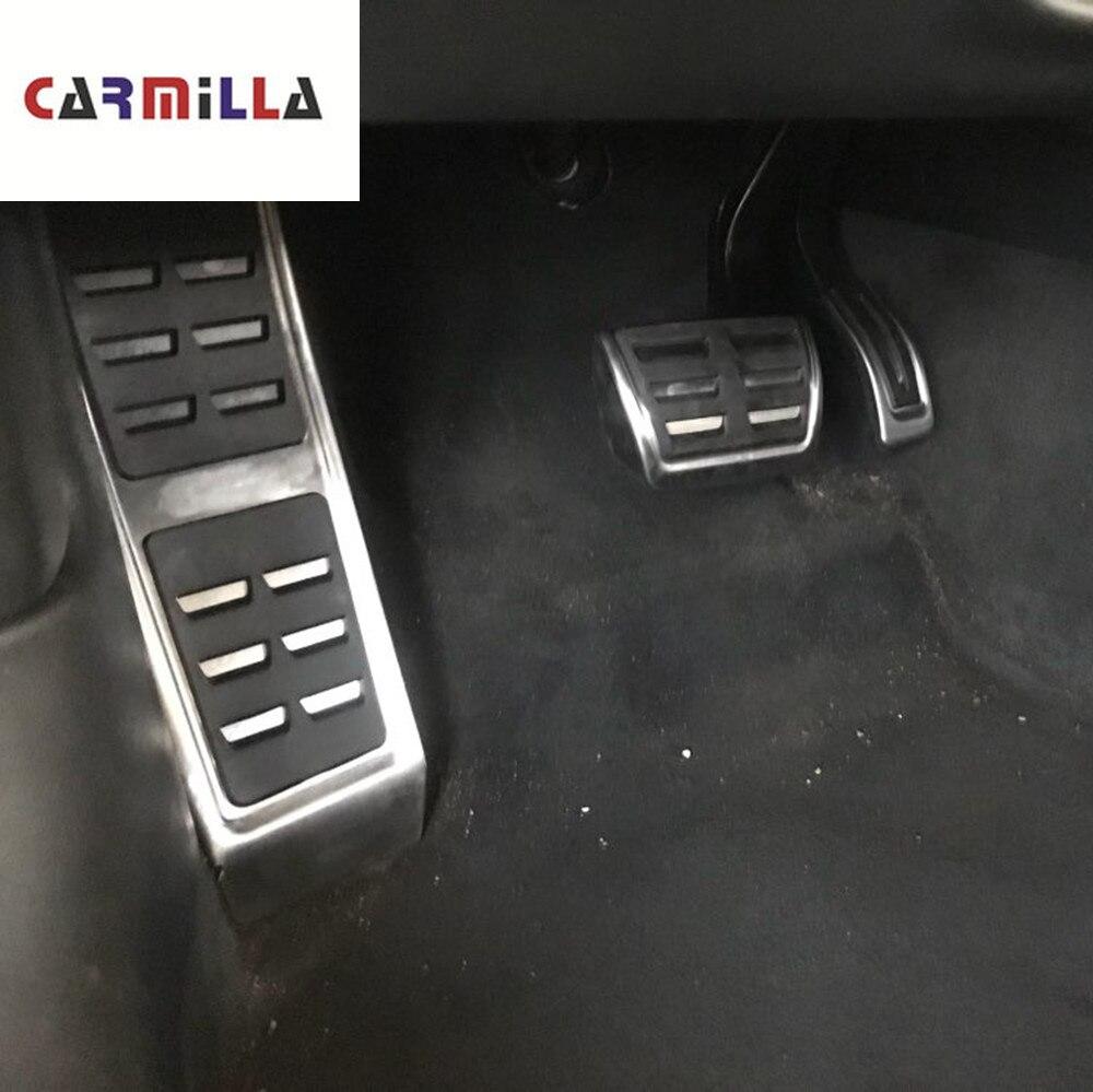 Pedales de coche Carmilla en cubierta de pedales para Audi A4 B8 S4 RS4 Q3 A5 S5 RS5 8T Q5 8R SQ5 A6 C7 A7 S6 4G A8 S8 A8L 4H, accesorios