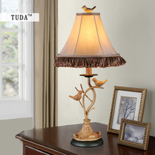 Buy table lamp birds and get free shipping on aliexpress tuda 28x61cm american style retro bird figurine vintage table lamp for bedroom e27 mozeypictures Images