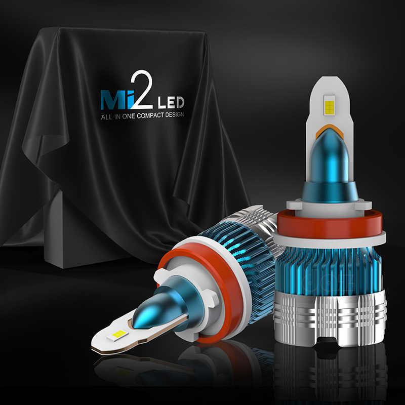 automobile lampH4 LED H7 H11 H8 HB4  H3 HB3 H9 9005 9006 Auto mini Car Headlight Bulbs 72W 6000LM  6500K led fog light