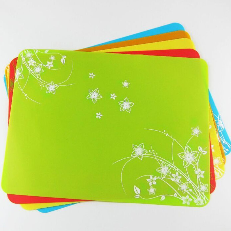 3040cm Large Tableware Rectangle Silicone Placemats Table Place Mats Waterproof Coasters Dining Mat