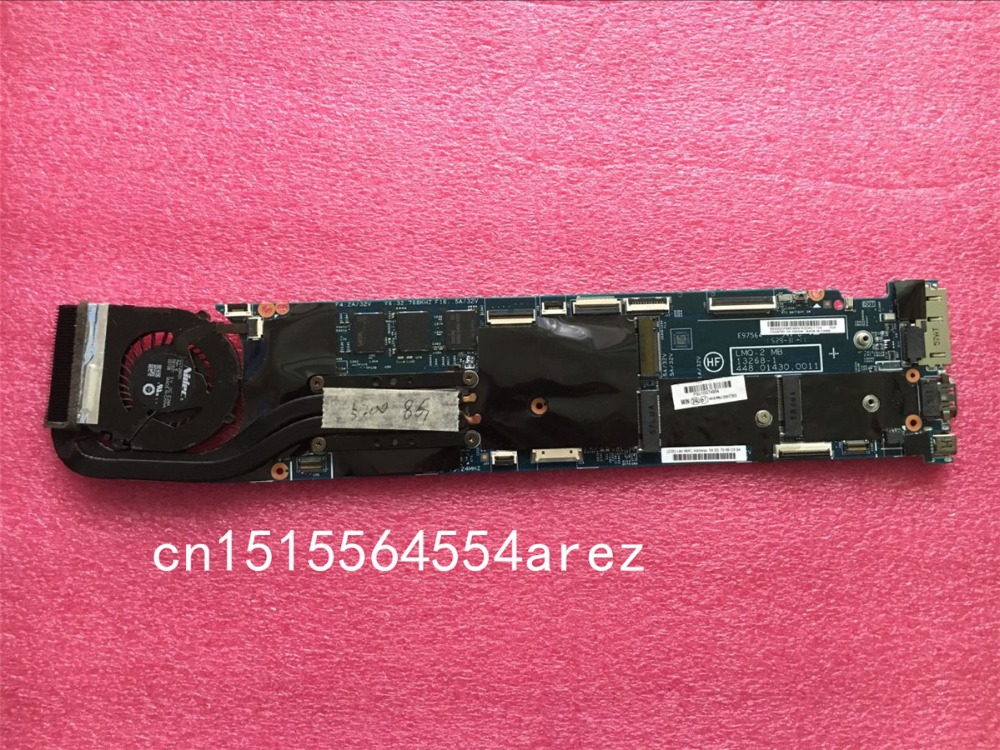 original laptop lenovo thinkpad x1 carbon motherboard mainboard with fan i7 3667u cpu touch 04x0495 w8p Original laptop Lenovo ThinkPad X1 carbon 20BS 20BT motherboard mainboard i5-5200 CPU 8G with fan FRU 00HT353