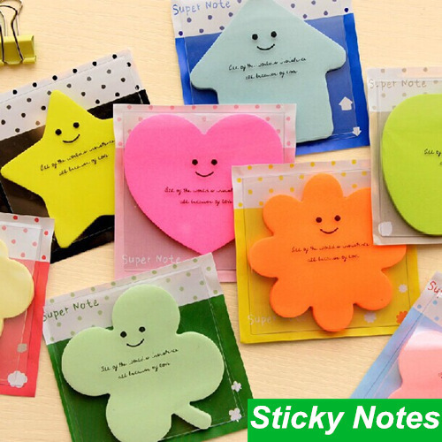 12 pcs/Lot Super note Candy color Post it Sticky notes Star cloud love stationery papelaria office material School supplies love note