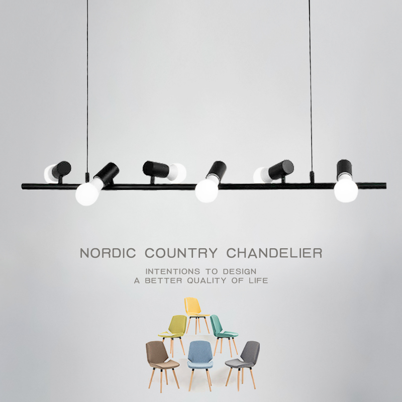 Nordic Pendant Lights Simple Iron Black Pendant LED Modern Hanging Lamps Kitchen Light Fixtures lustre suspension luminaire lamp