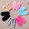 free shipping 2016 Hot Selling Lovely Big BowKnot Warm Soft Sole Women Indoor Floor Slippers/Shoes Bow Tie Flannel Home Slippers