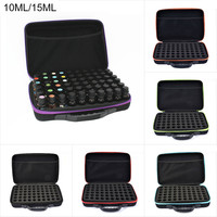 60 Bottles Essential Oil Case 10ML 15ML Perfume Oil Essential Oil Box Travel Portable Carrying Holder Nail Polish Storage Bag