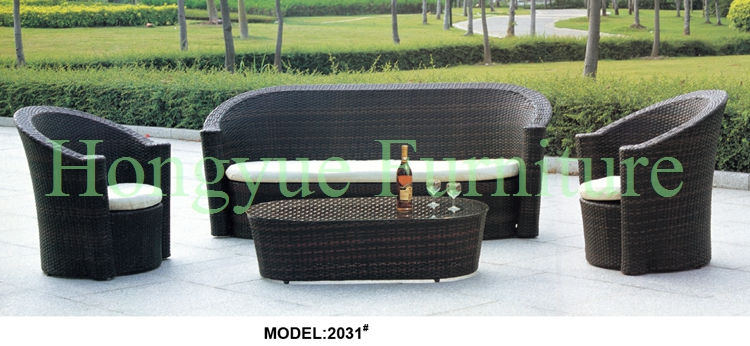 Brown rattan garden sofa furniture set with cushions корзинка для хранения garden rattan